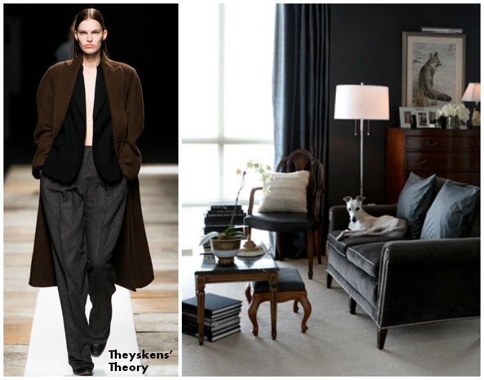 Theyskens theory brought into a home interior that is masculine yet