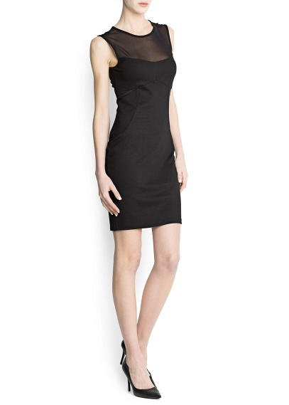 siyah kısa dar kesim elbise