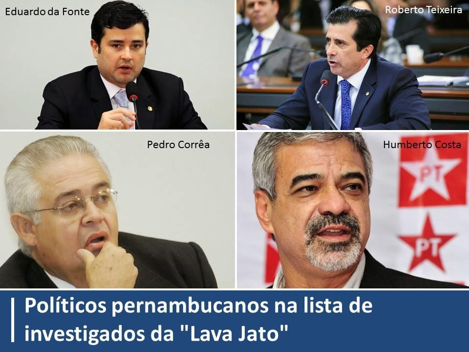 """Políticos pernambucanos na lista de investigados da """"Lava Jato"""""""
