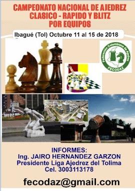 CAMPEONATO NACIONAL DE AJEDREZ POR EQUIPOS CLASICO - RAPIDO Y BLITZ 2018 (Dar clic a la imagen)