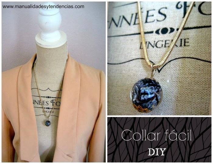 Tutorial de collar blanco y negro / Black and white necklace / Collier noir et blanc