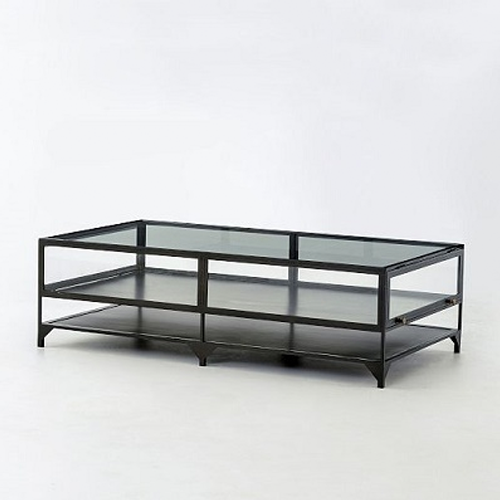 Copy Cat Chic Clayton Gray Shadow Box Coffee Table