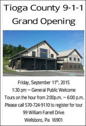 9-11 Grand Opening Tours