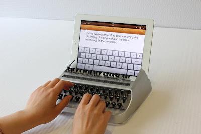 Itypewriter schreibmaschine für das I-Pad Ipad mit Geräuschen