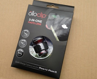 Lensa Apple Iphone 4 / 4S OLLOCLIP 3 in 1 OEM 1:1 Fisheye Macro Wide