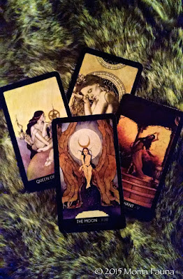 The Moon & other cards from The 78 Tarot.