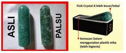Penting!, Bedakan Crystal X Asli Dan Crystal X Palsu