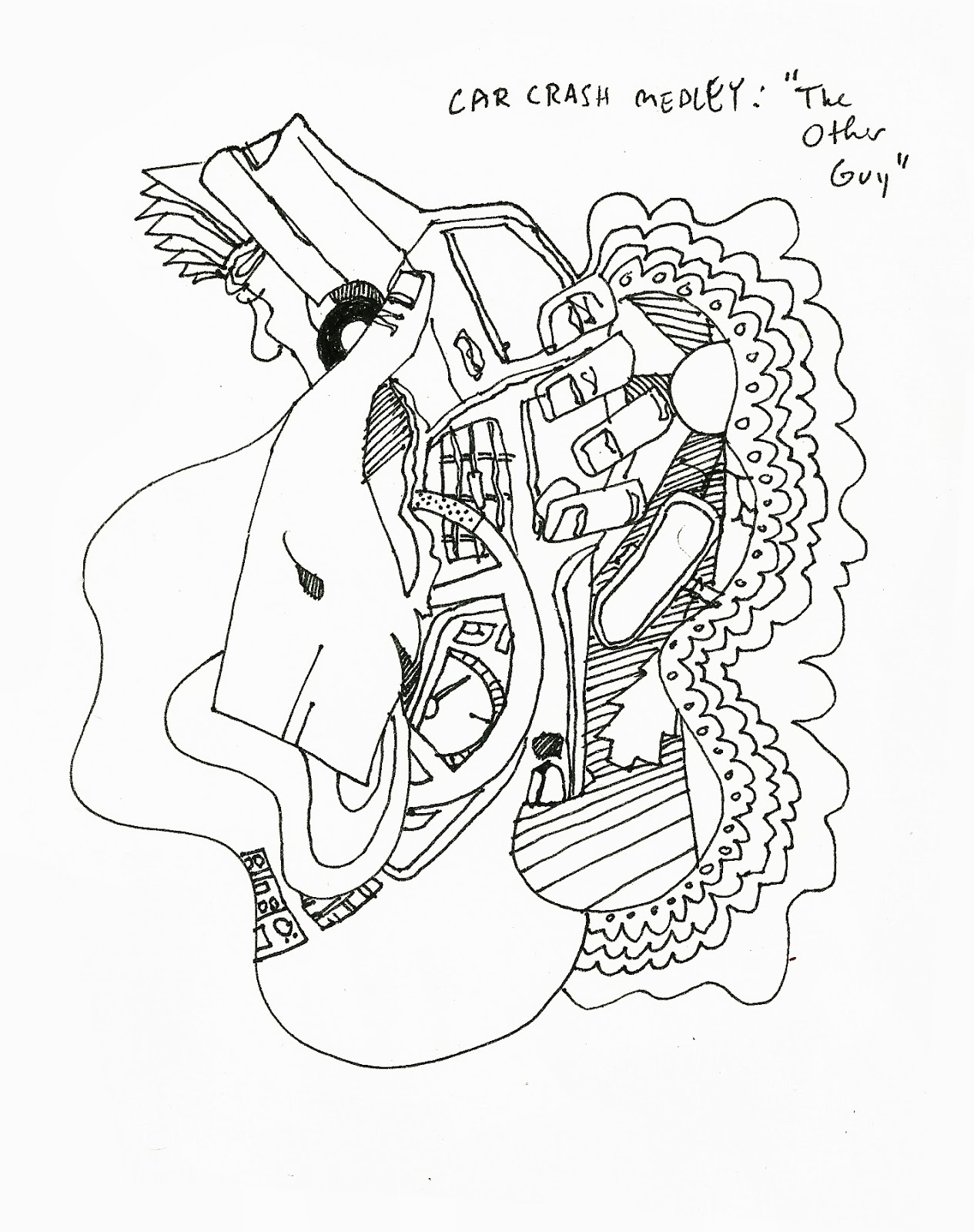 Magnificent Car Crash Sketch Gallery - Electrical System Block ...