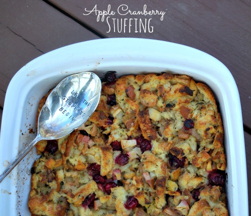 Apple Cranberry Stuffing - The Gingered Whisk