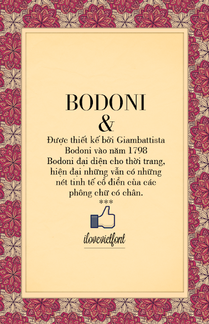 [Serif] VNF Bodoni Regular Việt hóa