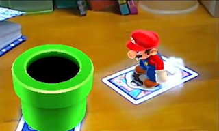 Mario jumping to tube