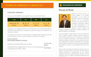 publicación de Resultados Universidad Nacional Agraria La Molina UNALM 2015 domingo 1 de Marzo