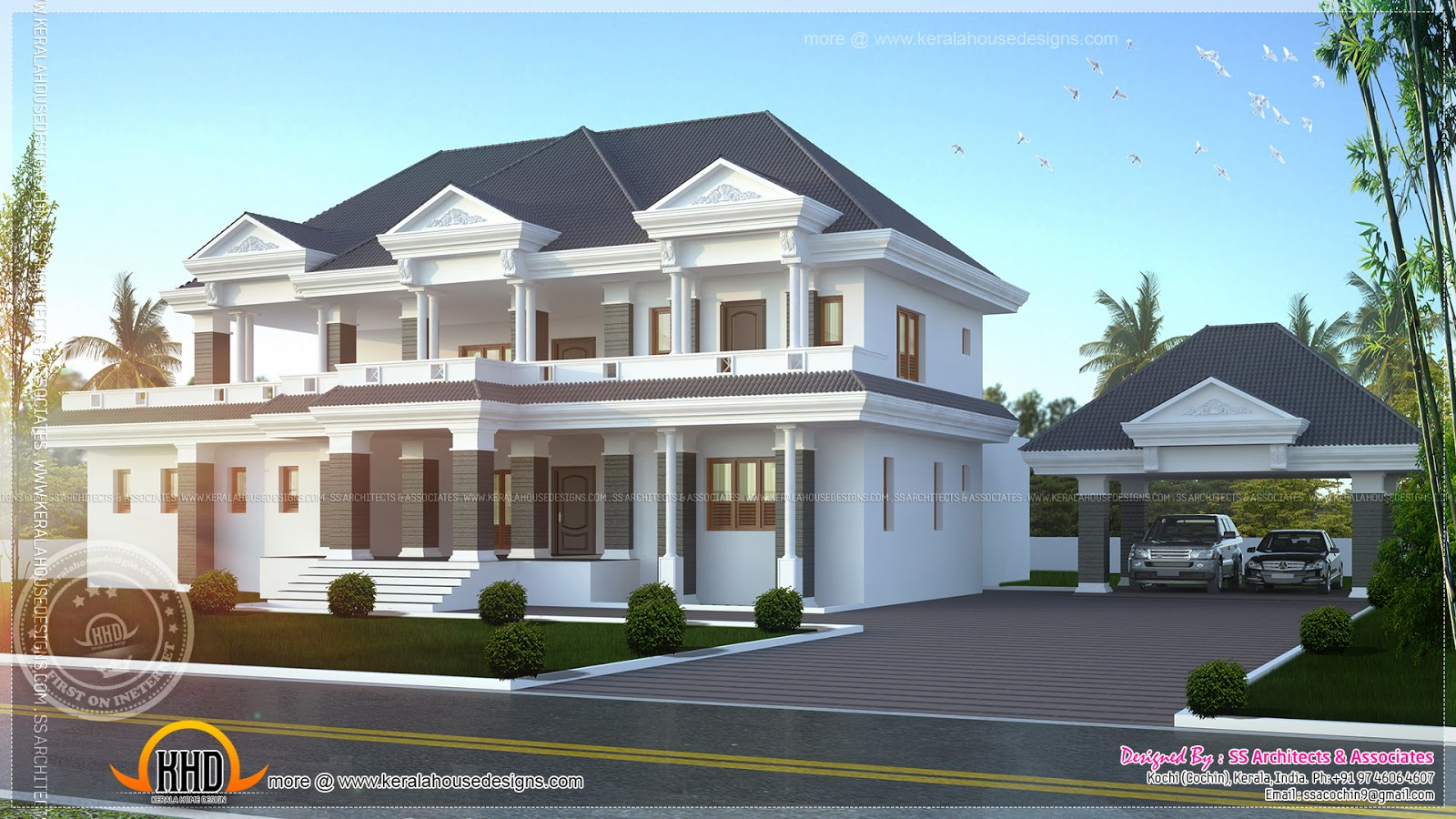 Modern super luxury home design - Kerala home design and floor plans