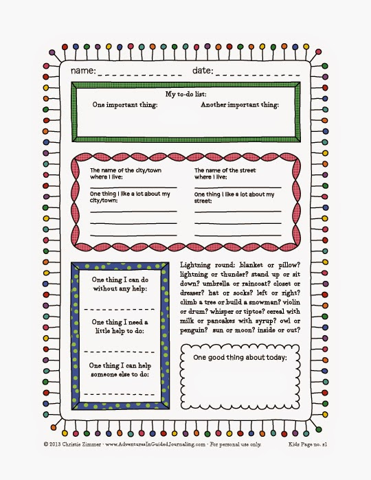 image about Printable Journal Pages known as Adventures inside of Guided Journaling: Printable magazine webpages for