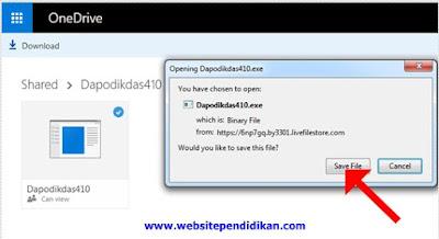 Download Aplikasi Dapodikdas Versi 410 langsung di Website Resmi Dapodikdas