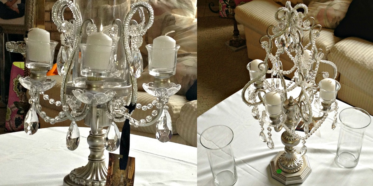 Inspired i dos candelabra wedding centerpieces for Inexpensive wedding centrepieces