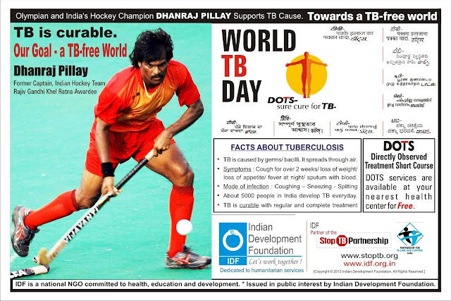 Dhanraj Pillay was the brand ambassador of the ANTI TUBERCULOSIS which helps people in getting identified and treated by the disease