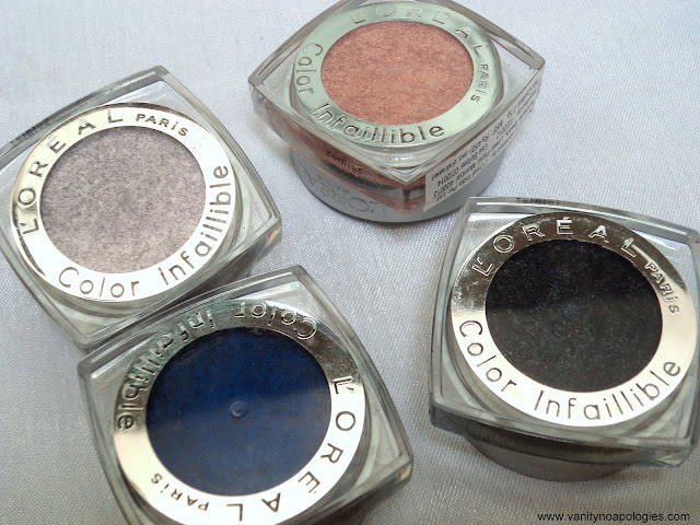 L'Oreal Paris L'OR Electric eye shadows