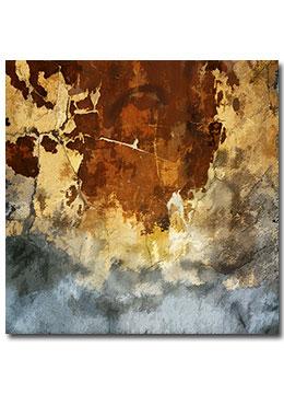 abstract, industrial, wall art, contemporary, female artist, urban, brown, cream, grey,