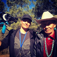 Authentic Filmmaking: Klee Benally with father Jones Benally shooting Powerlines on Black Mesa