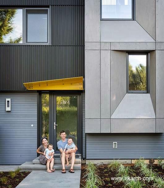 Acceso a la casa pasiva de Seattle