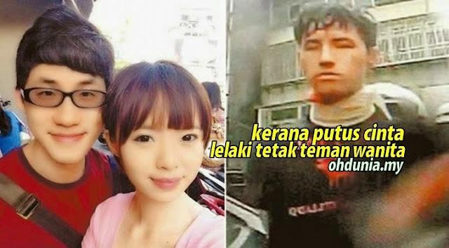 Lelaki Tetak Mati Teman Wanitanya 34 Kali Gara-gara Putus Cinta !..