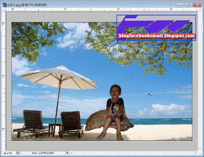 contoh mengganti bakcground foto dengan background lain