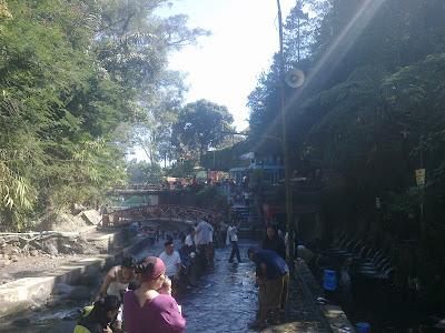 Obyek Wisata Air Panas Guci Tegal - Jawa Tengah