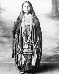 Indian girl in native dress