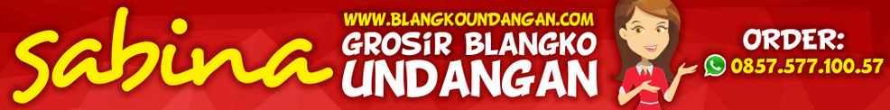 Sabina Pusat Blangko Undangan Pernikahan Jakarta Surabaya Bandung Yogyakarta Semarang