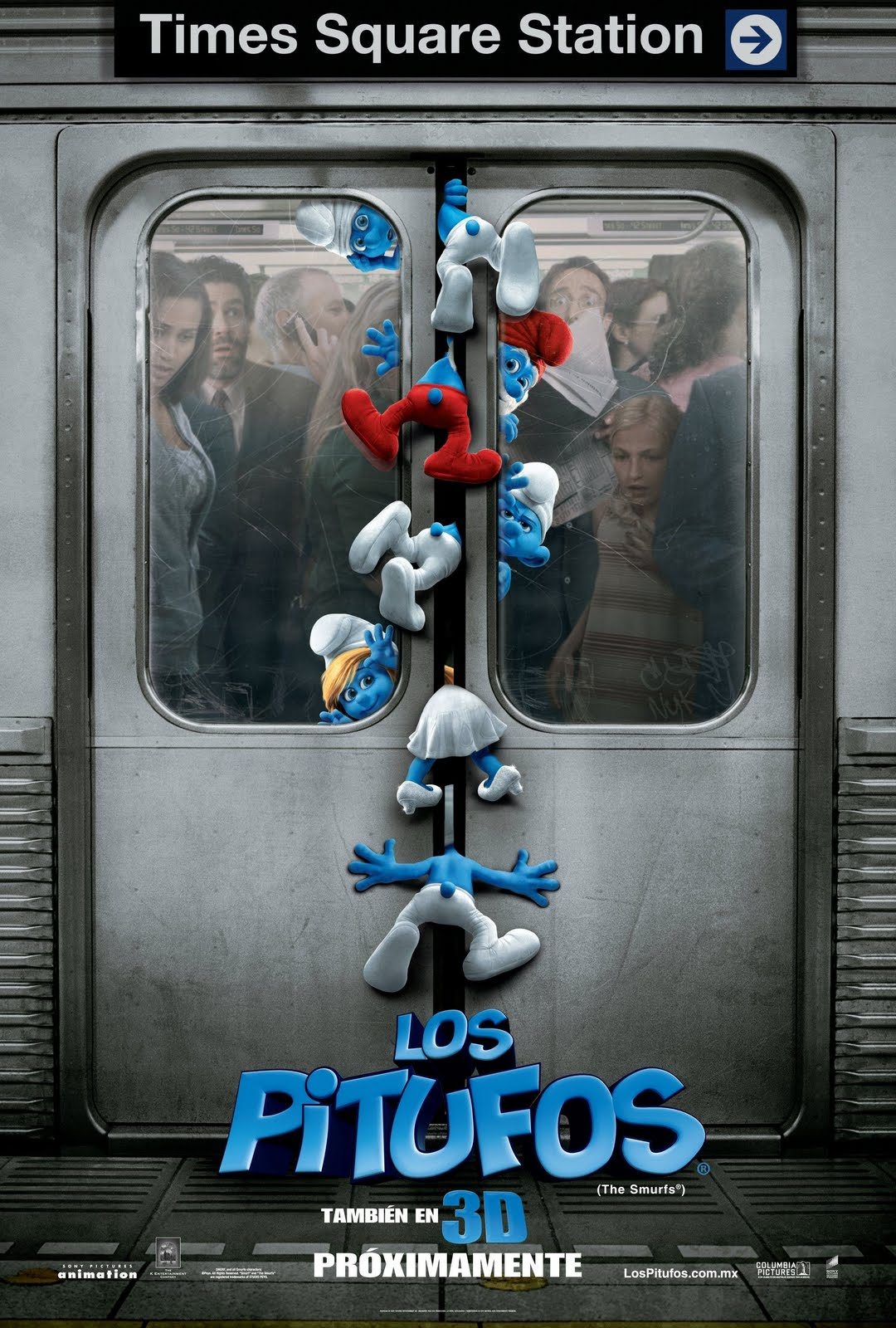 the smurfs 3d movie poster wallpapers