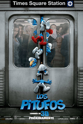 The Smurfs in Metro Funny HD Wallpaper Poster
