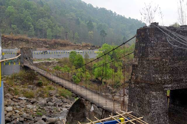 Jogighat old hanging foot bridge