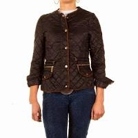Jacheta casual, de culoare neagra, cu aspect matlasat ( )
