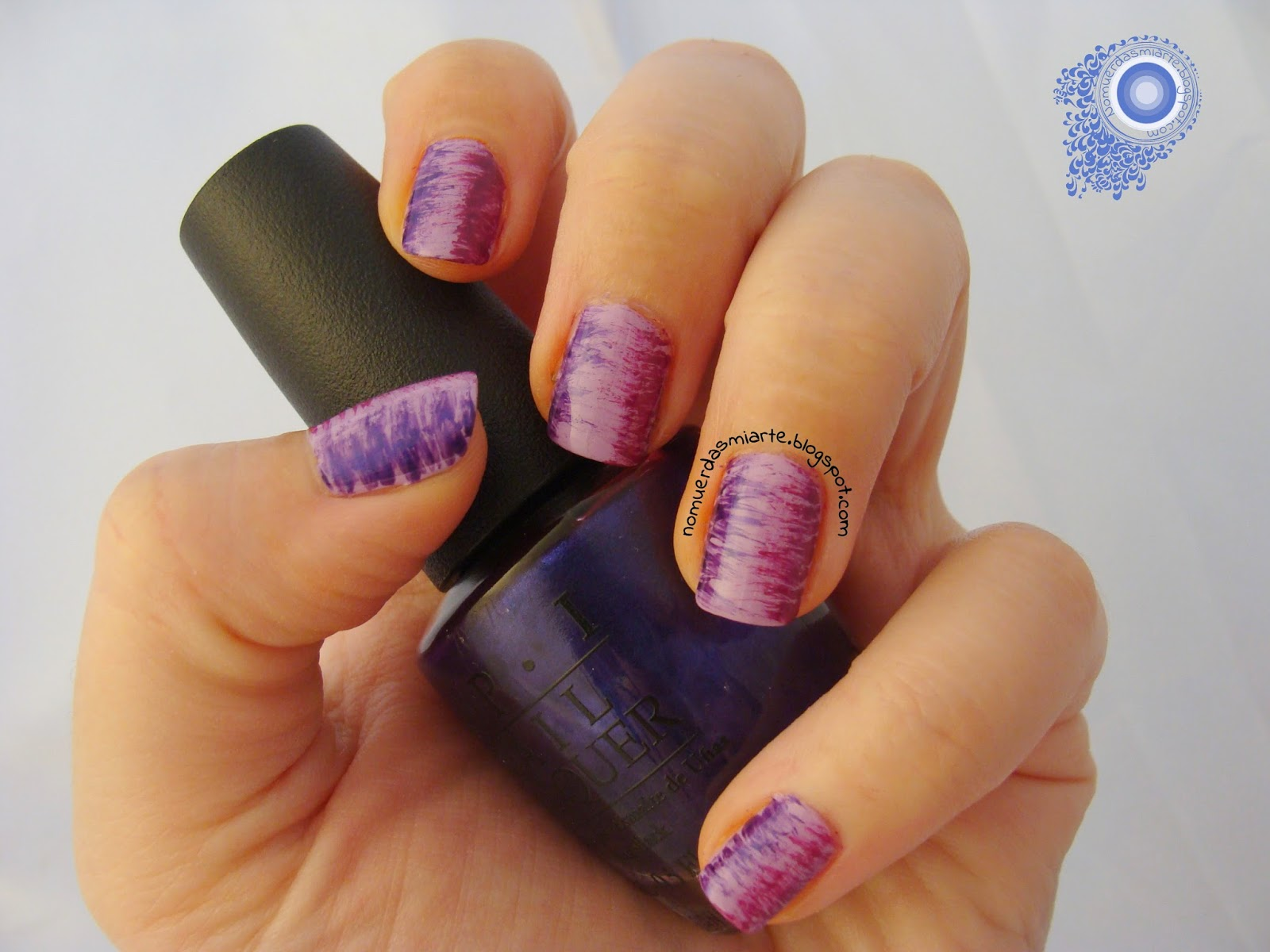 Fan brush manicure