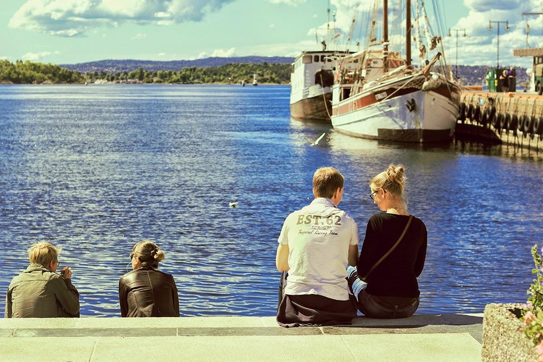 Para nad Morzem Północnym w Oslo