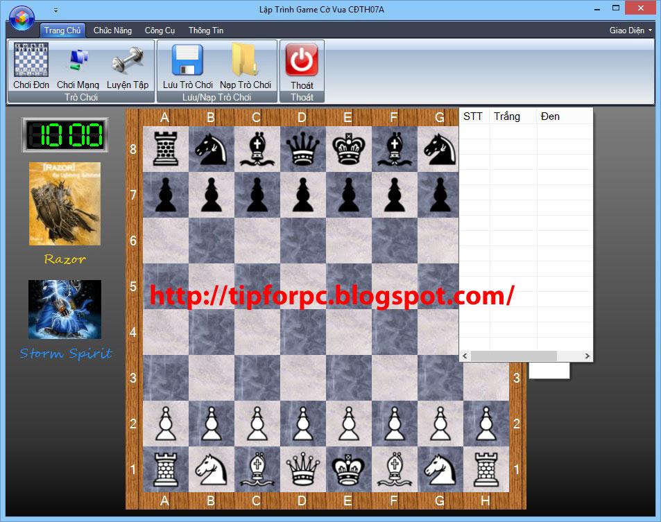 Source C# Mã nguồn Code Phần Mềm Game cờ vua