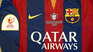 gambar photo Jersey Barcelona final Copa del Rey musim 2015