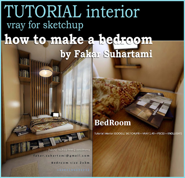 tutorial vray for sketchup how to make a bedroom