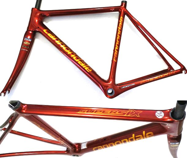 cannondale supersix red cromo