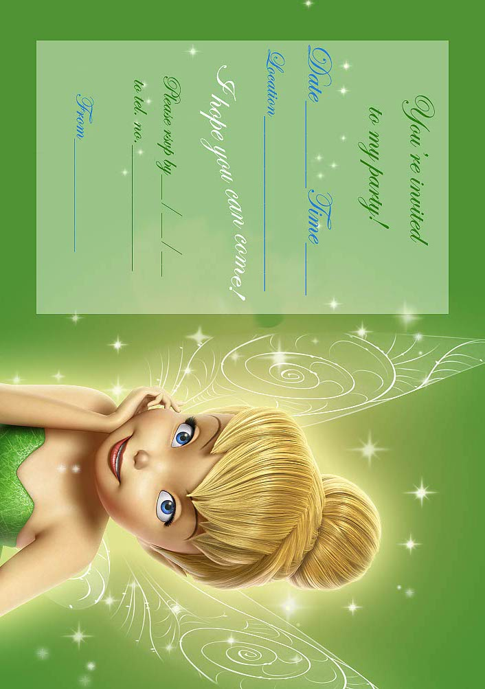tinkerbell birthday party invitation printable