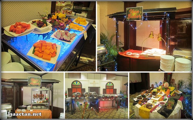 Some of the buffet spread on display for our consumption