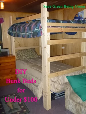 Save Green Being Green Thrifty Thursday Diy Bunkbeds For Under 100