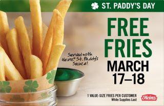 Free Fries at Burger King ~ 03/17 – 03/18