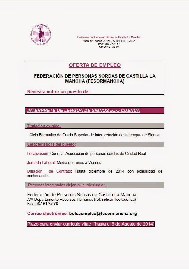 FESORMANCHA busca un ILSE para Cuenca ILS+PARA+CUENCA