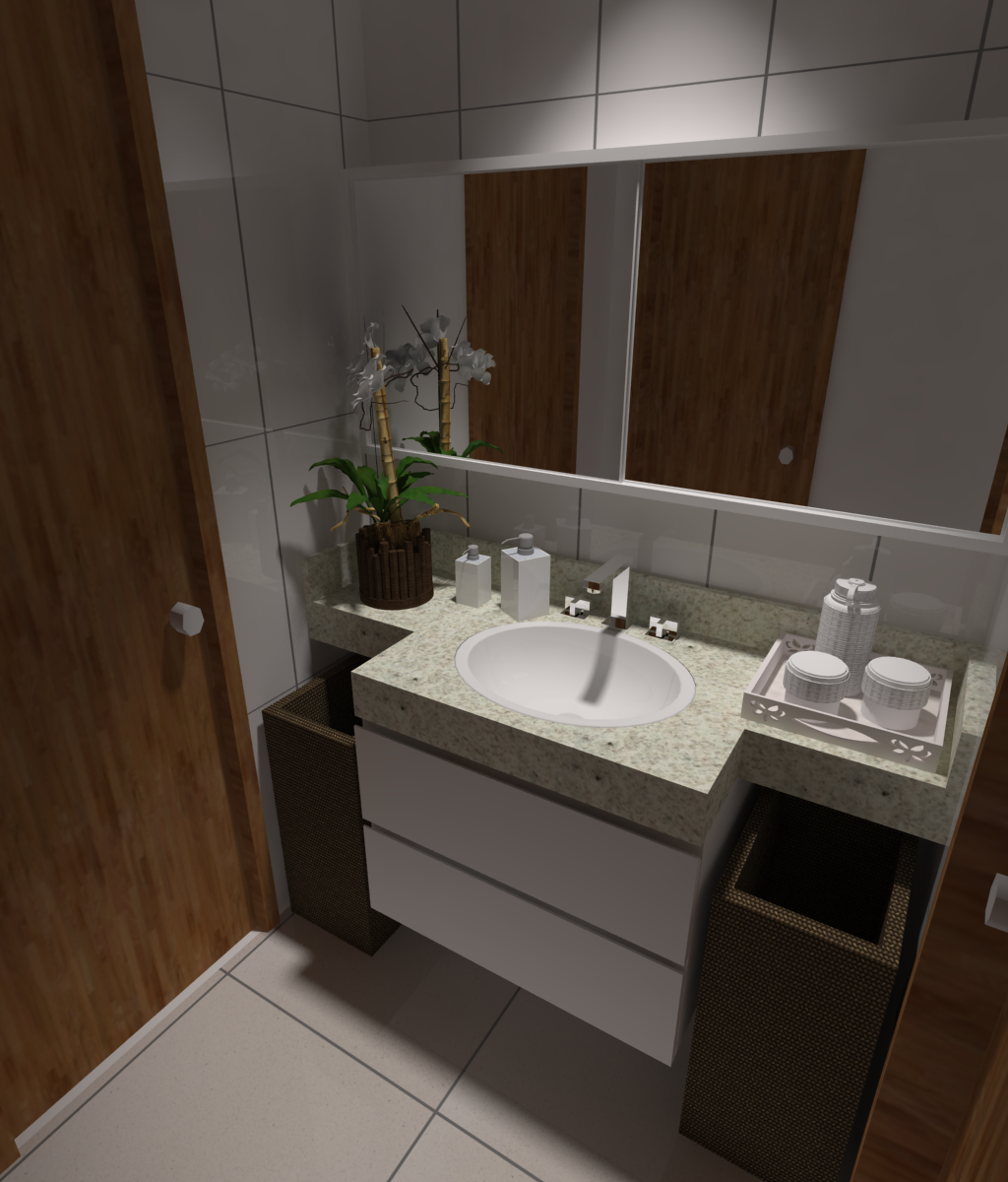 FRED FRAZÃO: Apartamento em Águas Claras #475836 1024x1200 Banheiro Compartilhado Arquitetura