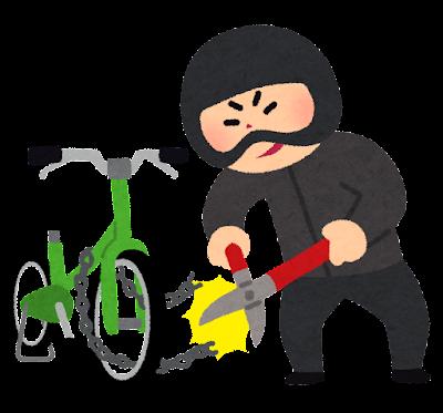 自転車どろぼうのイラスト