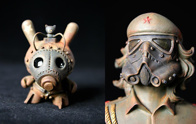 """Greetings from Hell"" Solo Art Exhibit - Custom Vinyl Figures by DrilOne"