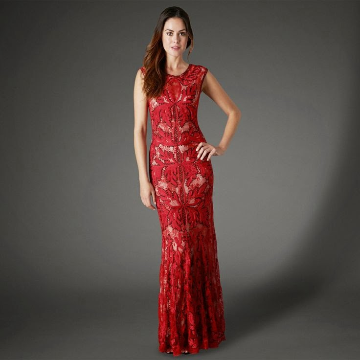 Phase Eight Paige Tapework: Affordable Wedding Dresses - Red