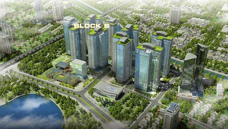 Khu Block B: Gồm 5 Tòa, 2 Tầng Hầm Thông Đế